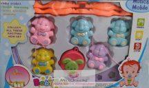 Baby Toys Zenélő körforgó kiságyra, elefántos
