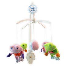 Babymix zenélő körforgó kiságyra - tarka békák