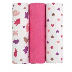 Tetra pelenka, csúcsminőség, 3 db/csomag - Rózsaszín csigák