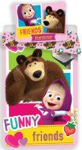 Masha and the Bear, Mása és a Medve Ágyneműhuzat 140×200cm, 70×90 cm Funny Friends!