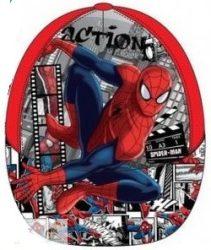 Spiderman, Pókember gyerek baseball sapka, 52 cm, piros, Képregényes