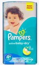 Pampers Jumbo pack 4+ Maxi+ 9-16 kg 48 db
