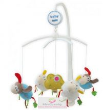 Babymix zenélő körforgó kiságyra - kutya és bárány