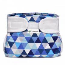 Ortopédiai abdukciós pelenka, terpeszpelenka - Kék háromszögek 3-6 kg