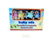 Baby mix Zenélő körforgó kiságyra, plüss macis