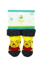 Baba zokni Disney Micimackó, sárga
