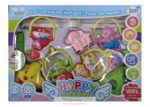 Happy Chappie zenélő kiságyforgó, ugrándozó nyuszik