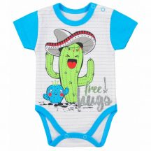 Baba nyári rövid ujjú body Koala Cactus Summer türkiz