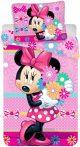 Disney Minnie Ágynemű, Ágyneműhuzat 140×200cm, 70×90 cm Minnie virágcsokorral