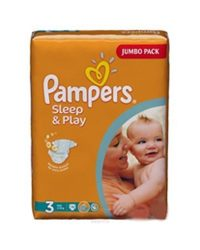 Pampers Sleep & Play jumbo pack, 4 Maxi: 9-14 kg, 68 db