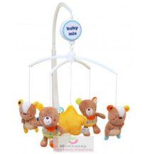 Babymix zenélő körforgó kiságyra - pöttyös macik