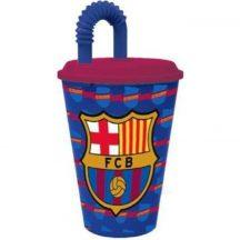 FC Barcelona Szívószálas pohár 430 ml