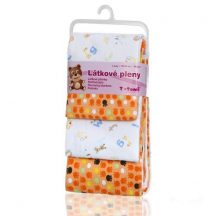 Pamut pelenka, csúcsminőség, 4 db/csomag - Narancssárga mancsok