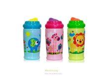 Baby Care sport itatópohár Zoo, szívószálas, 300 ml