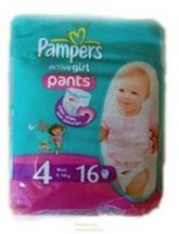 Pampers UP&GO  4 Maxi Boy/ Girl 9-14 kg 16 db