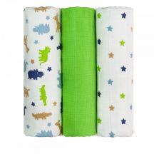 Tetra pelenka, csúcsminőség, 3 db/csomag, 70x70 cm - Zöld krokodilok