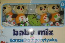 Babymix zenélő körforgó kiságyra - Pandamacik