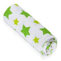 BIO Bambusz törölköző Prémium minőség - Zöld csillagok