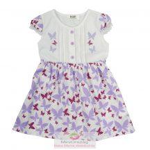 Lepke mintás lila nyári ruha