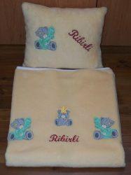 Cosy hímzett takaró 1 rétegű  85x100 cm 32 színből választható