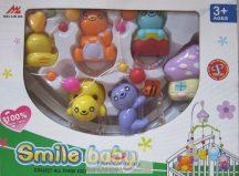 Smile baby zenélő körforgó kiságyra, macis