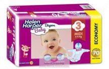 Helen Harper Baby nadrágpelenka 3 Midi 4-9 kg 70 db