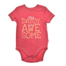My Daddy is Awesome, feliratos rövid ujjú kombidressz pink