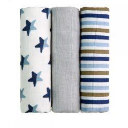 Tetra pelenka, csúcsminőség, 3 db/csomag - Kék csillagok