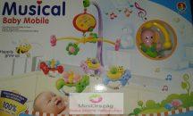 Musical Baby Mobile - elefántos változat