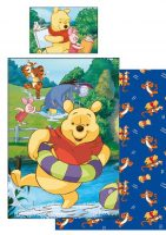 Gyerek ágyneműhuzat Disney Winnie the Pooh, Micimackó 90×140cm, 40×55 cm