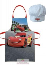 Gyerek kötény 2 darabos szett Disney Verdák, Cars