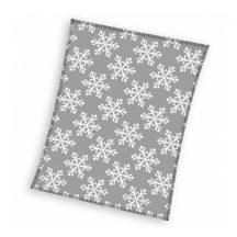 Karácsonyi polár takaró, ágytakaró 130x170cm Hóesés