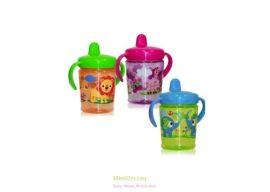 Baby Care - Lorelli itatópohár Zoo, ivócsőrös, fogóval, 270 ml