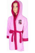Gyerek frottír 100% pamut köntös Disney Minnie rózsaszín