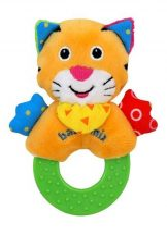Baby Mix tigris plüss csörgő