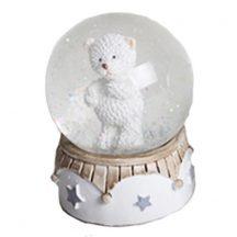 Karácsonyi hógömb álló jegesmedve figurával