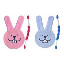 Mam szájápoló készlet mikroszálas szájápolóval és masszázskefével (kék és rózsaszín színekben)