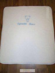 Hófehér pihe, puha pléd, takaró (újszülöttnek, keresztelőre, névadóra) 85x100 cm