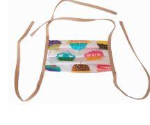T-tomi kétrétegű textil orrmaszk, szájmaszk Gyerek méret Muffinok