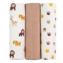 Tetra pelenka, csúcsminőség, 3 db/csomag, 70x70 cm - Majmok