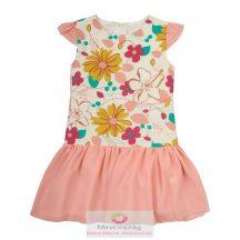 Nagy virág mintás rózsaszín ujjatlan nyári ruha