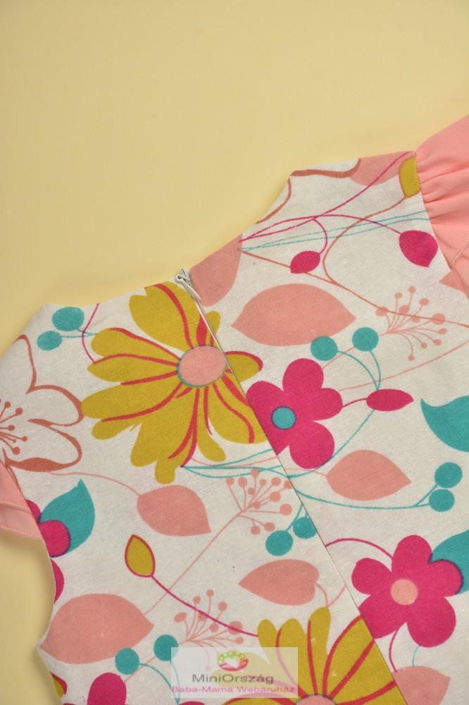 7fd3d1ff42 Nagy virág mintás rózsaszín ujjatlan nyári ruha - MiniOrszág Baba ...