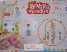 Baby Paradise Zenélő körforgó kiságyra, kacsás