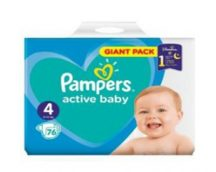 Pampers Giant pack 4 Maxi: 7-14 kg 76 db