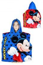 Disney Mickey törölköző poncsó 55*110 cm, kék-piros