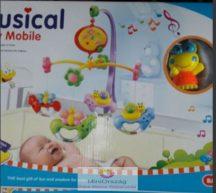 Musical Baby Mobile Zenélő körforgó kiságyra - békás változat