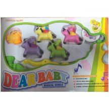Dear Baby zenélő körforgó kiságyra, lovas cicák