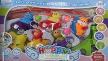 Happy Chappie zenélő körforgó kiságyra, autós majmocskák
