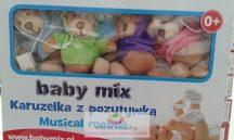 Babymix zenélő körforgó kiságyra - Vagány mackók
