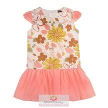 Nagy virág mintás pink ujjatlan nyári ruha